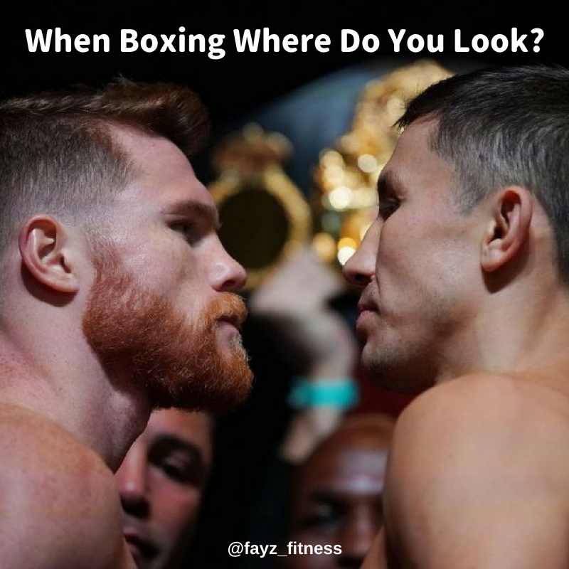 when boxing where to look?