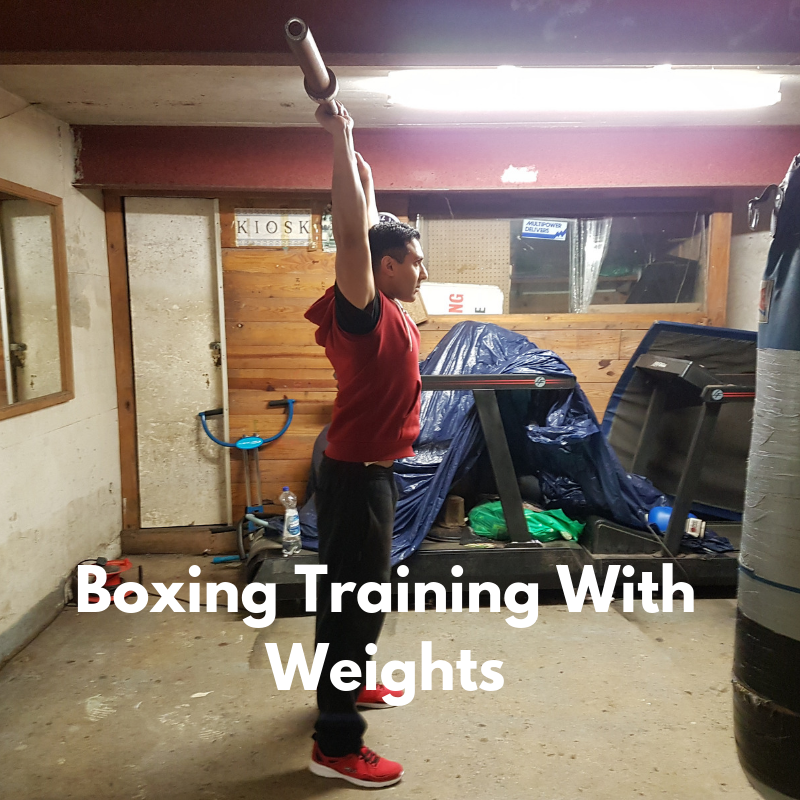 boxing training with weights
