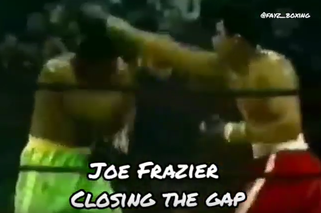 Joe Frazier closing the gap