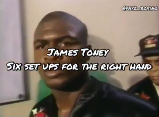 James Toney right hand