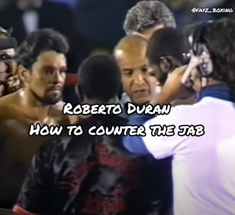 How to counter the jab Roberto Duran