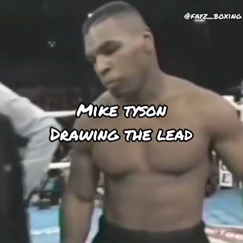 Mike Tyson drawing the lead